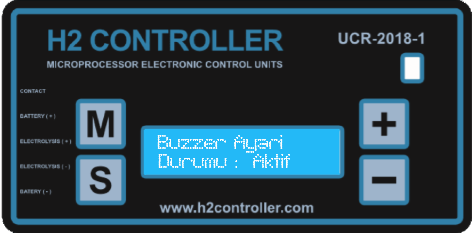 Buzzer ses sinyal ayarı / Buzzer sound signal setting
